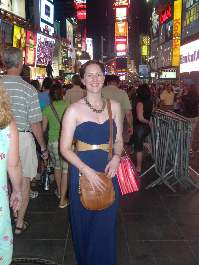 Travel fears, solo female travel, Cake Lady in New York City, Birthday in New York