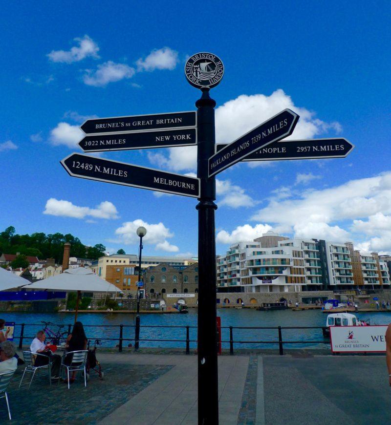 Bristol Harbourside sign